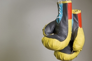 Boxhandschuhe und Boxbandagen