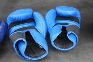 Blaue Boxhandschuhe