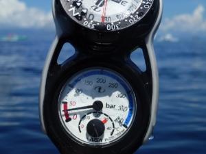 Finimeter über Wasser