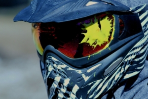 blaue Paintball Maske